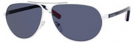 Tommy Hilfiger 1005/S Sunglasses Sunglasses - OUOH White Red / White Blue (9A Blue Lens)