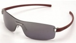 Tag Heuer Club 7509 Sunglasses Sunglasses - 106 Dark Red Temples / Grey Shield