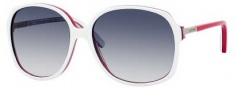 Tommy Hilfiger 1011/N/S Sunglasses Sunglasses - OUNJ White Blue Red (08 Dark Blue Gradient Lens)
