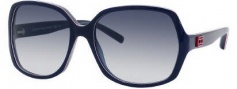 Tommy Hilfiger 1041/S Sunglasses Sunglasses - 00lV Blue Red White (08 Dark Blue Gradient Lens)
