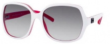 Tommy Hilfiger 1041/S Sunglasses Sunglasses - 06CF Red White (JJ Gray Gradient Lens)