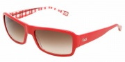 D&G DD3060 Sunglasses Sunglasses - 177413 Red on Check / Brown Gradient