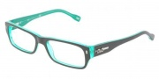 D&G DD1204 Eyeglasses Eyeglasses - 1773 Black on Green