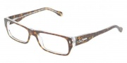 D&G DD1204 Eyeglasses Eyeglasses - 556 Havana on Crystal