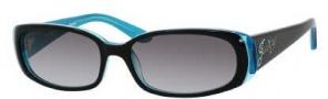 Juicy Couture Sophie/S Sunglasses Sunglasses - 0ETJ Black Teal (Y7 Gray Gradient Lens)