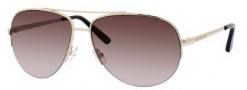 Juicy Couture Platinum/S Sunglasses Sunglasses - 03YG Shiny Light Gold (Y6 Brown Gradient Lens)