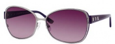 Juicy Couture Glamour/S Sunglasses Sunglasses - 06LB Shiny Ruthenium (2G Burgundy Gradient Lens)