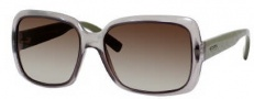 Gucci 3207/S Sunglasses Sunglasses - 0A0A Smoke Azure / P Green (lF Brown Gradient Azure Lens)
