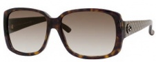 Gucci 3161/S Sunglasses Sunglasses - 0URD Dark Havana Pattern (JS Gray Gradient Lens)