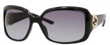 Gucci 3164/S Sunglasses Sunglasses - 0D28 Shiny Black (JJ Gray Gradient Lens)