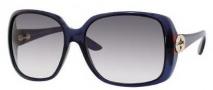 Gucci 3166/S Sunglasses Sunglasses - 0AG5 Blue Opal (BD Dark Gray Gradient Lens)