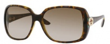 Gucci 3166/S Sunglasses Sunglasses - 0OD9 Havana / Green Red Green (CC Brown Gradient Lens)