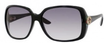 Gucci 3166/S Sunglasses Sunglasses - 0D28 Shiny Black (JJ Gray Gradient Lens)