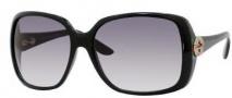 Gucci 3166/S Sunglasses Sunglasses - 0D28 Shiny Black (JJ Gray Gradient Lens)