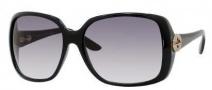 Gucci 3166/S Sunglasses Sunglasses - 0D28 Shiny Black (3H Smoke Polarized Lens