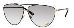 Gucci 2909/S Sunglasses Sunglasses - 0V6N Black Antique Gold (ll Gray Gradient Lens)