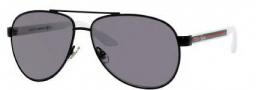 Gucci 2898/N/S Sunglasses Sunglasses - 0M6A Black White (BN Dark Gray Lens)