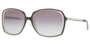 DKNY DY4072 Sunglasses Sunglasses - 349011 Black-White Horn / Gray Gradient