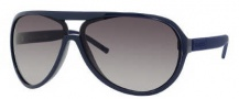 Gucci 1639/S Sunglasses Sunglasses - 0UYE Blue Matte Palladium (DB Brown Gray Gradient Lens)