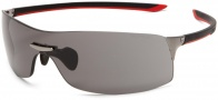 Tag Heuer Squadra 5507 Sunglasses Sunglasses - 104 Black-Red / Dark Lug / Grey Lenses