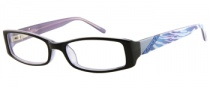 Candies C Andrea Eyeglasses Eyeglasses - BLK: Black / Crystal Blue