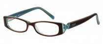 Candies C Hazel Eyeglasses Eyeglasses - BRNBL: Brown Blue