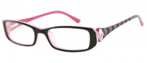 Candies C Heidi Eyeglasses Eyeglasses - BLK: Black / Crystal Pink