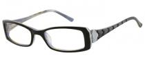 Candies C Henna Eyeglasses Eyeglasses - BLK: Black / Milky Blue