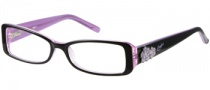 Candies C Lilac Eyeglasses Eyeglasses - BLKPUR: Black / Purple
