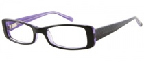 Candies C Pennie Eyeglasses Eyeglasses - BLK: Black / Crystal Purple