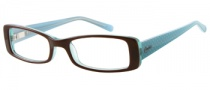 Candies C Pennie Eyeglasses Eyeglasses - BRN: Brown / Crystal Blue