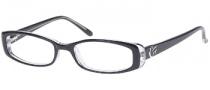 Candies C Roxanne Eyeglasses Eyeglasses - BLKCRY: Black Crystal