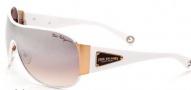 True Religion Ashton Sunglasses Sunglasses - White W/ Brown Mirror Lens