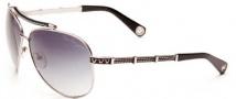 True Religion Avery Sunglasses Sunglasses - Shiny Gunmetal W/ Grey Gradient Lens
