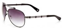 True Religion Avery Sunglasses Sunglasses - Black W/ Grey Gradient Lens