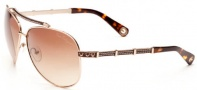 True Religion Avery Sunglasses Sunglasses - Shiny Gold W/ Brown Gradient Lens