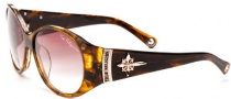 True Religion Madison Sunglasses Sunglasses - Amber Tortoise W/ Brown Gradient Lens