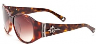 True Religion Madison Sunglasses Sunglasses - Smoke Tortoise W/ Brown Gradient Lens