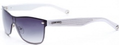 True Religion Mia Sunglasses Sunglasses - Silver W/ Grey Lens
