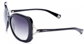True Religion Olivia Sunglasses Sunglasses - Black W/ Grey Gradient Lens