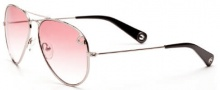True Religion Jeff Sunglasses  Sunglasses - Shiny Silver W/ Red Lens