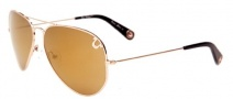 True Religion Jeff 55 Sunglasses Sunglasses - Shiny Gold W/ Non-Polarized Red or Orange Lens