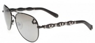 True Religion Maverick Sunglasses Sunglasses - Shiny Black W/ Grey