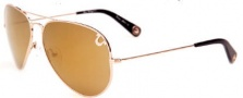 True Religion Jeff Large/ Small Sunglasses Sunglasses - Gold
