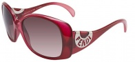 Fendi FS 5064 Chef Sunglasses Sunglasses - 602 Red Gradient