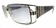 Cazal 9027 Sunglasses Sunglasses - 001 Black Gold / Grey Gradient Lens