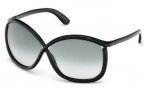 Tom Ford FT0201 Charlie Sunglasses Sunglasses - 01B Shiny Black / Gradient Smoke