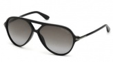 Tom Ford FT0197  Leopold Sunglasses Sunglasses - 01B Shiny Black / Gradient Smoke