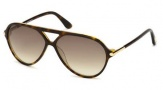 Tom Ford FT0197  Leopold Sunglasses Sunglasses - 56P Havana / Gradient Green