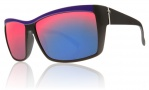 Electric Riff Raff Sunglasses Sunglasses - Black N Purple / Grey Plasma Chrome Lens